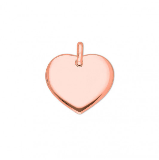 Curved heart medal