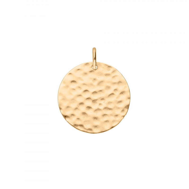 The gold-plated 2 cm Large hammered medal