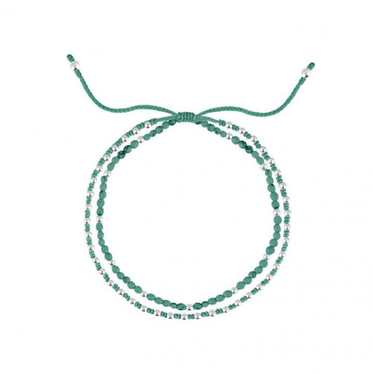 Turquoise green beads braided bracelet