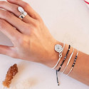 Half bangle and chain bracelet with Helios medal