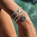 925 Silver beads bracelet & 6 amazonite gemstones