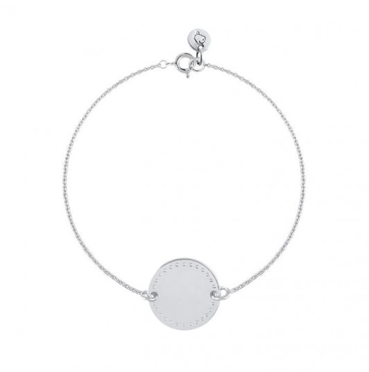 Chain bracelet with dotted line medal