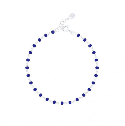 Chain bracelet withdark blue beads