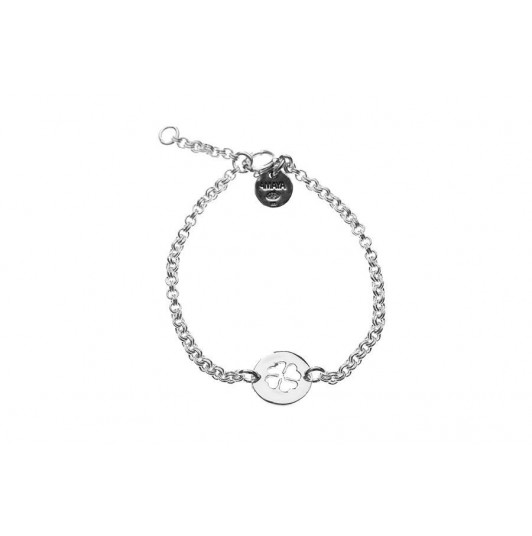 Chain bracelet with perforated clover for children