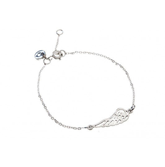 Chain bracelet with angel wing