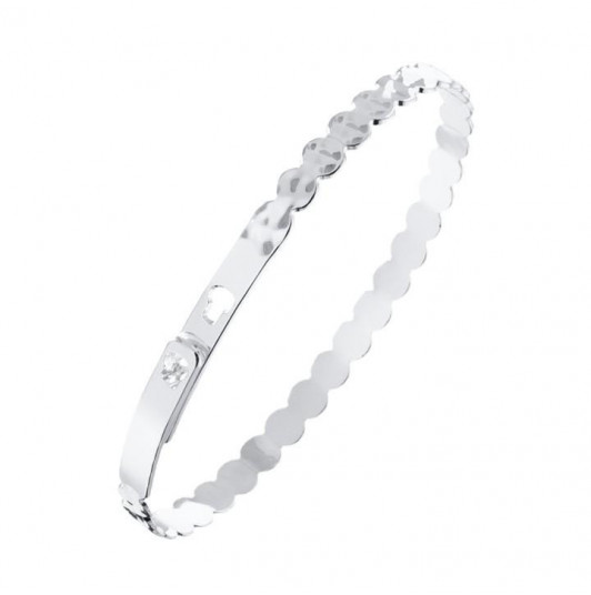 Wavy hammered lock bangle