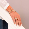 Gold-plated classic bangle