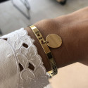Lock bangle with medal