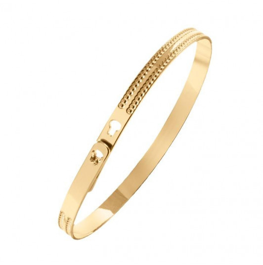 Double dotted line lock bangle for children