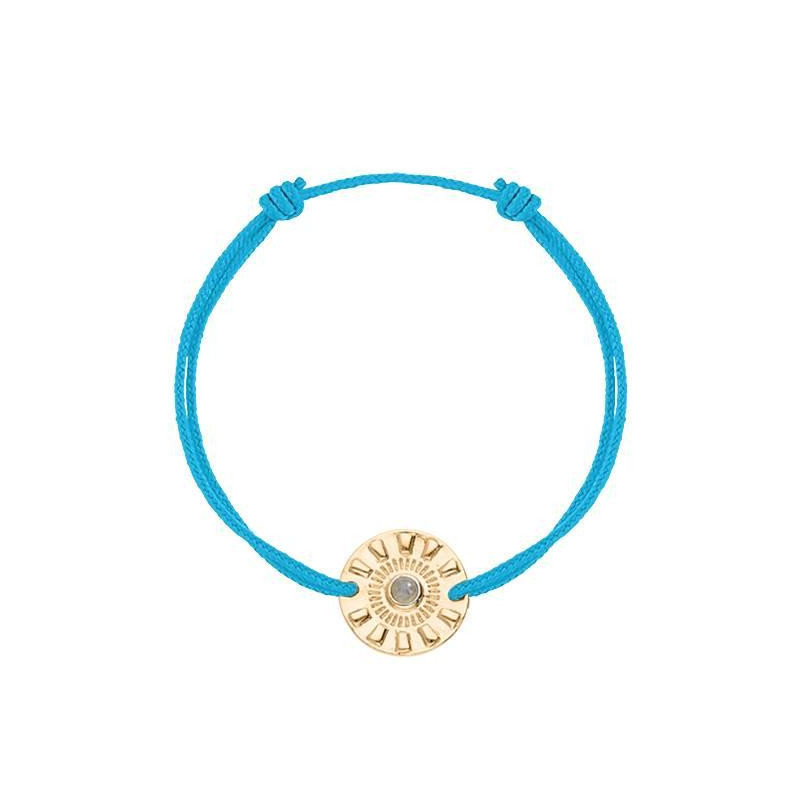 Tie bracelet with gold-plated Olympe coin
