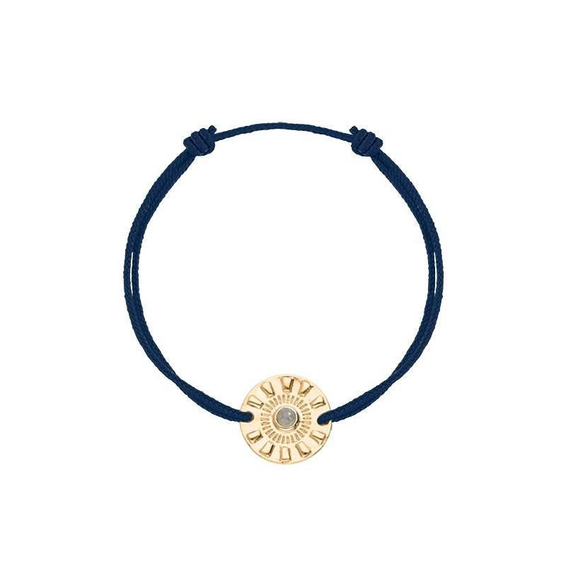 Tie bracelet with Olympe coin