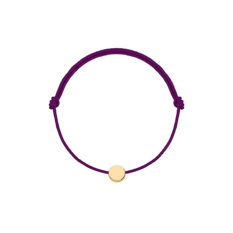 Gold-plated tie bracelet with mini medal
