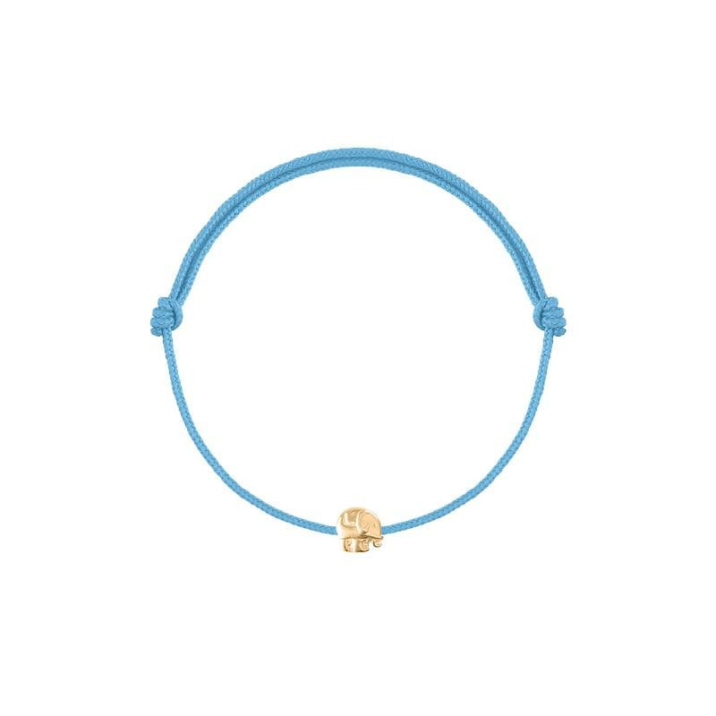 Tie bracelet with mini elephant