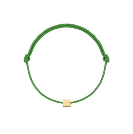 Gold-plated tie bracelet with mini square