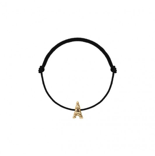 Tie bracelet with mini eiffel tower for children