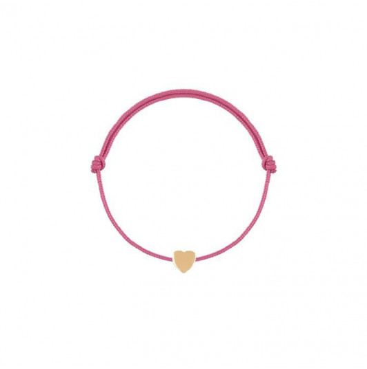 Tie bracelet with mini heart for children