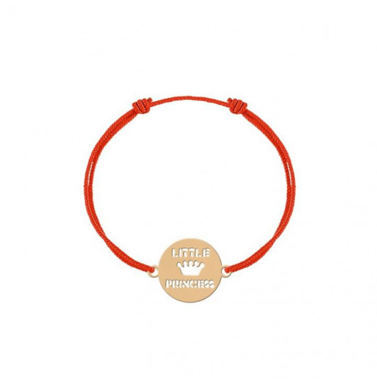 Tie bracelet with little princess medal