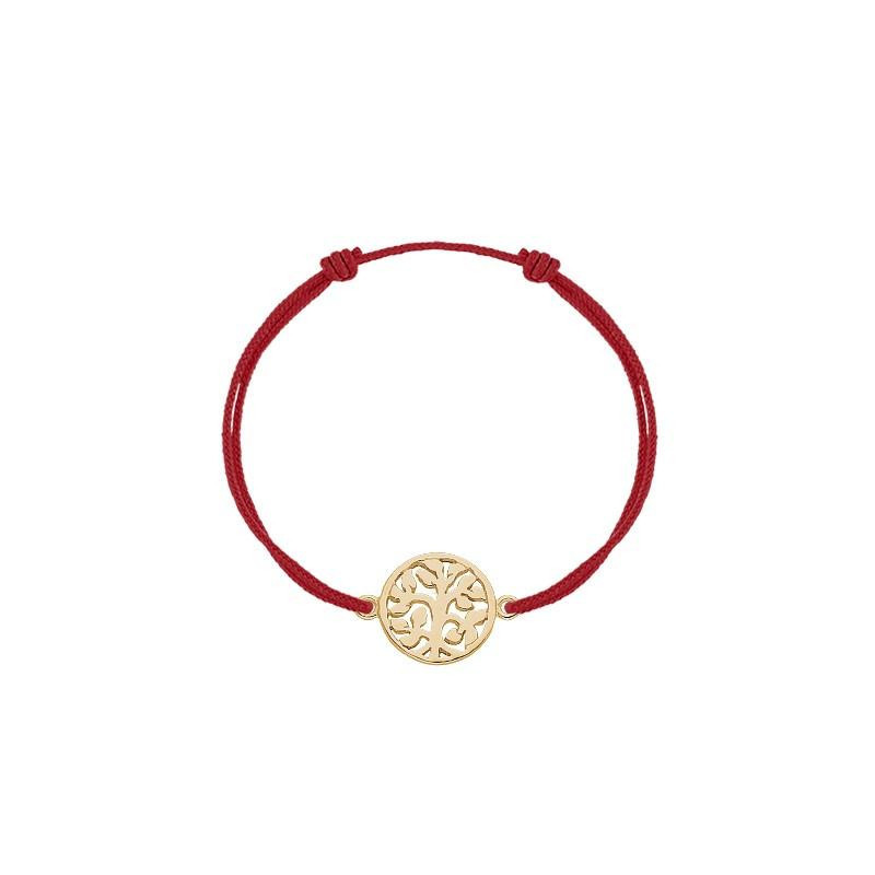 Tie bracelet with tree of life for children