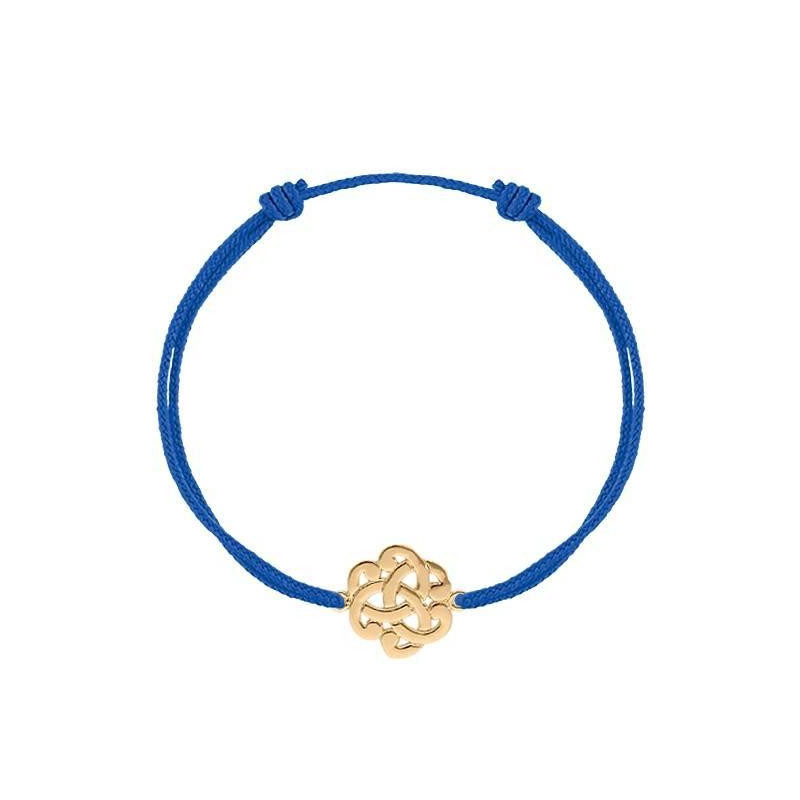 Tie bracelet with gold-plated arabesque