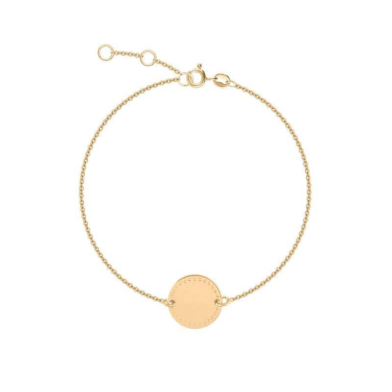 Dotted line medal chain bracelet