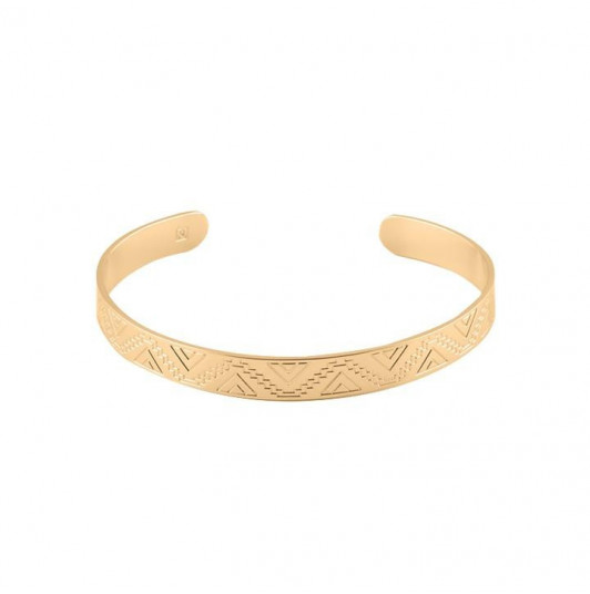Ethnic open bangle bracelet