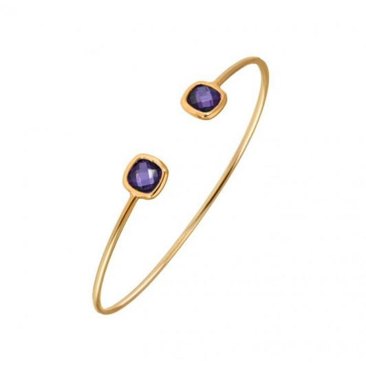 Purple open bangle