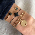 Small medals chain bracelet