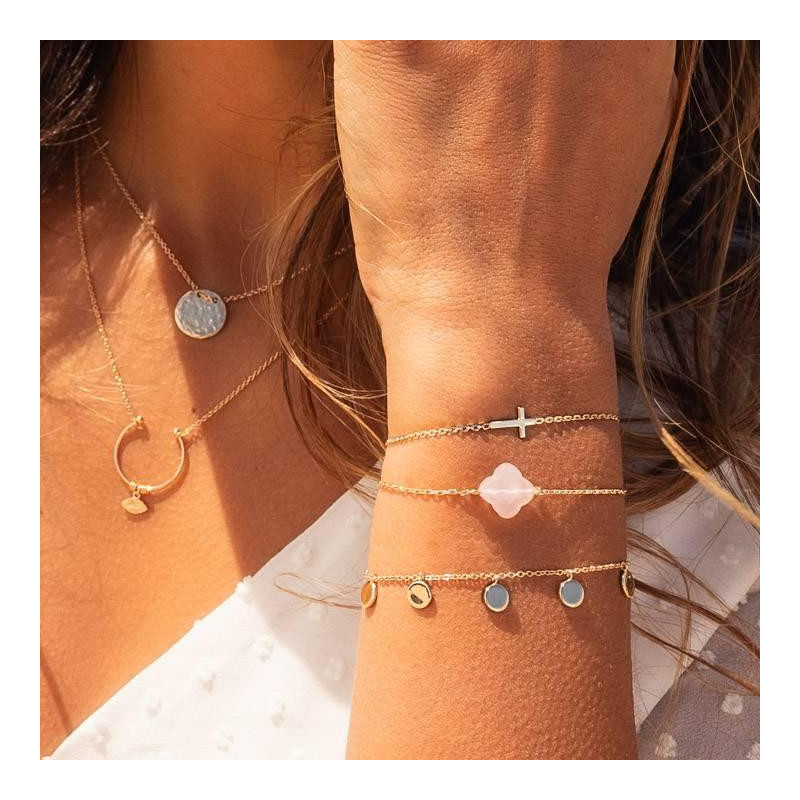 Chain bracelet with 5 mini medals