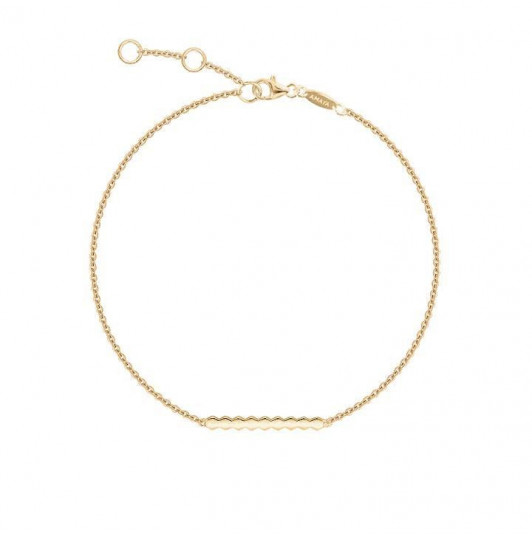 Gold-plated mosaic chain bracelet