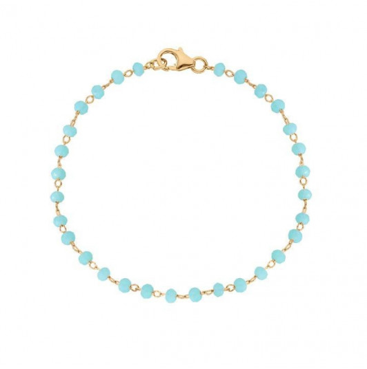 Chain bracelet with blue beads