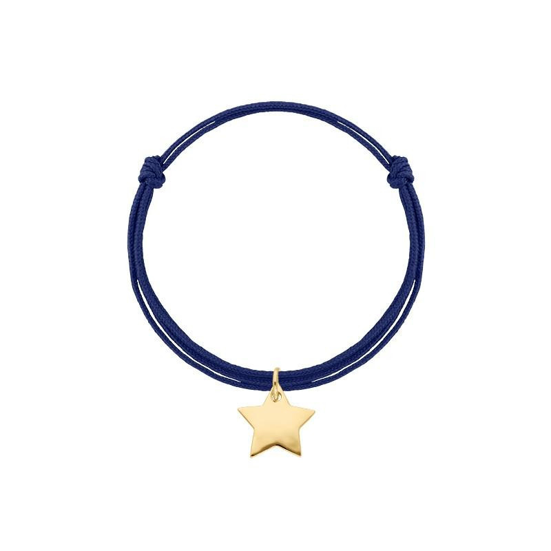 Tie bracelet with perforated star medal charm