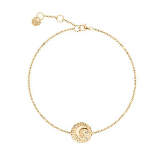 Moon star medal chain bracelet