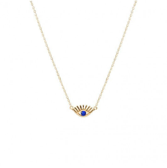 Blue eye chain necklace