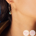 Rose gold-plated amazonite Thallie earrings