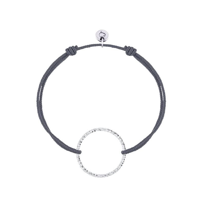 925 Silver faceted ring tie bracelet