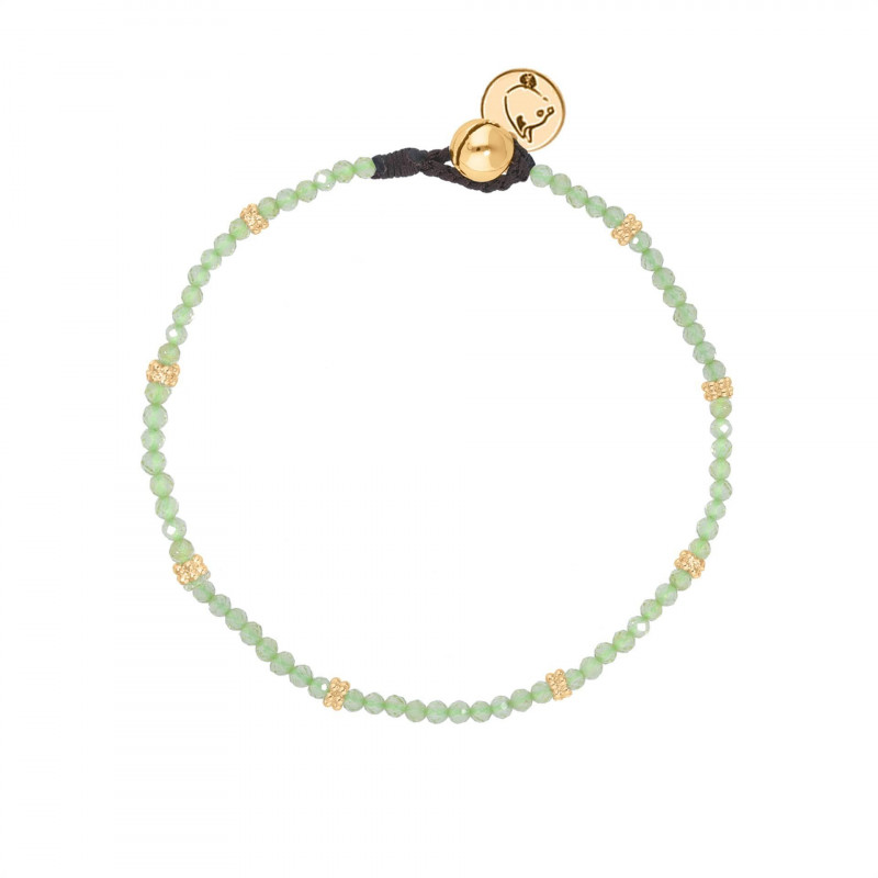 Gold-plated Labradorite beads bracelet