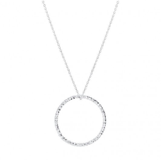 Faceted ring chain necklace