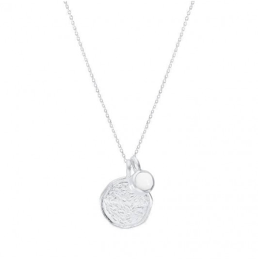 White turquoise Naïa medal chain necklace