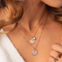 Rose gold-plated white turquoise Naïa chain necklace