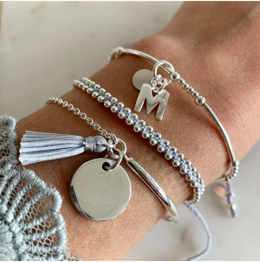 Soft grey bracelet set