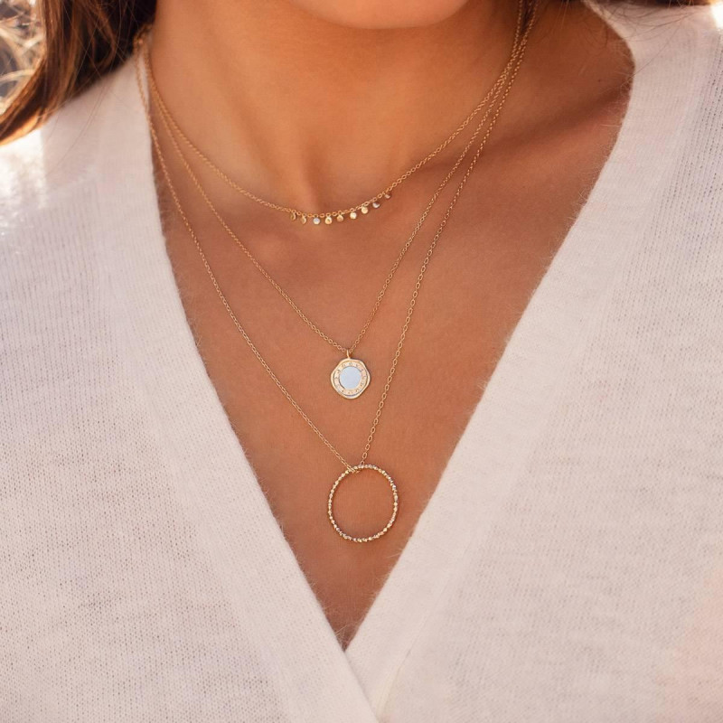 Gold-plated Cosmo necklace duo