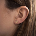 Small triangles perforated earrings
