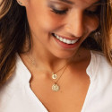 Gold-plated Nova medal chain necklace