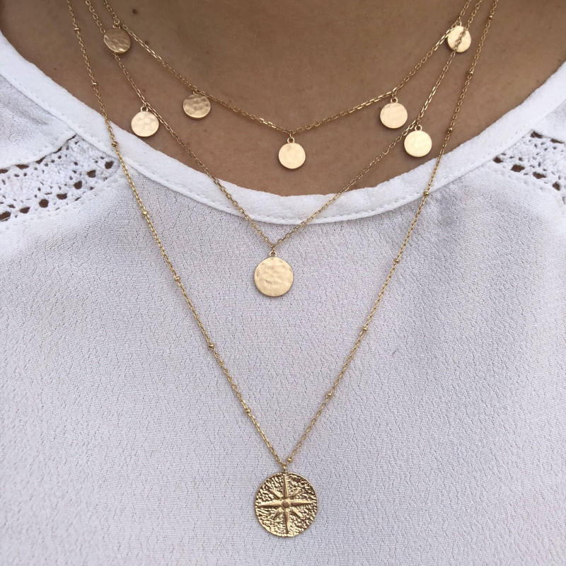 Gold-plated Arielle chain necklace
