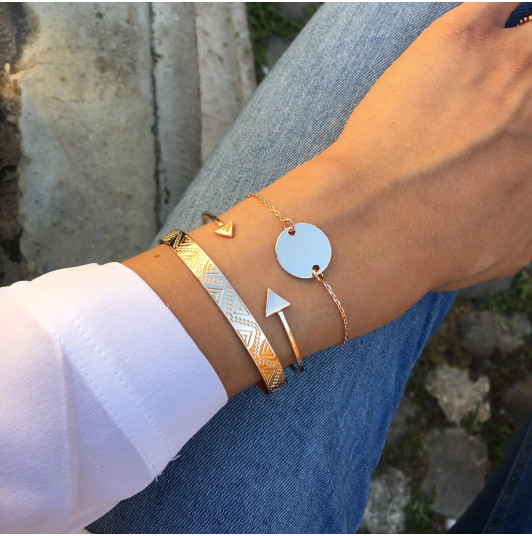 Rose-gold-plated trio