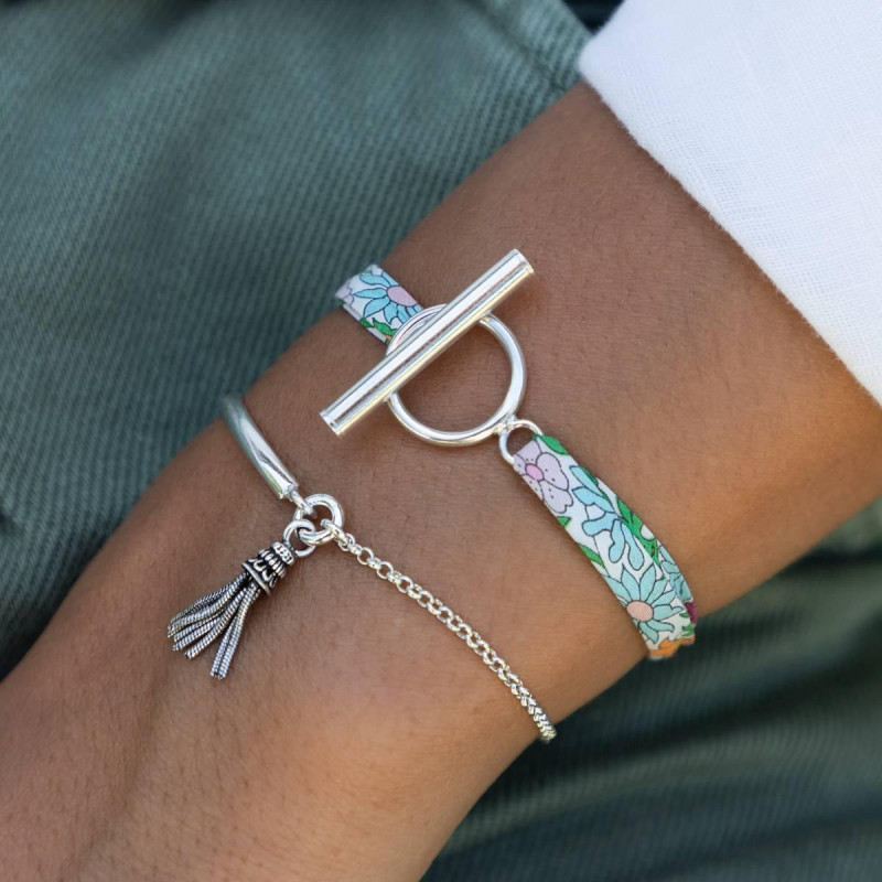 Liberty bracelet with 925 silver T-toggle
