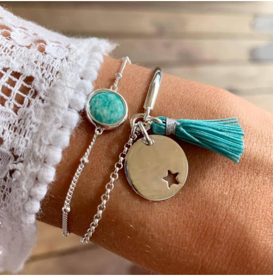 Amazonite & star bracelet set