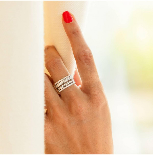 Lumio thin ring set