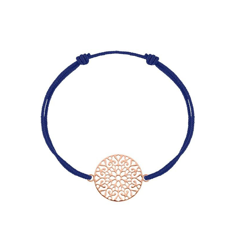 Rose gold-plated ie bracelet with large model arabesque