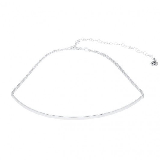 Flexible link and arch choker necklace